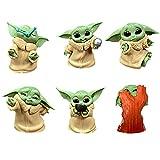 BESTZY Baby Yoda Toy 6 Figuras de Peluche para Bebé Baby Yoda Doll Figure Modelo de Acción para la...