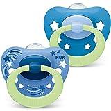 NUK Signature Night Chupete | 18 – 36 meses | Chupete con efecto luminoso | Silicona sin BPA |...