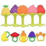NEPAK 10 x Mordedores Bebes Refrigerante,Chupete Fruta Bebe,Mordedores Bebes Para Aliviar El Dolor...