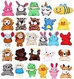 Vamei 27 Piezas Llavero Peluche Mini Animales de Peluche Juguetes Colgados para Decoración Llavero...
