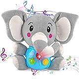 aovowog Juguete Felpa Peluche Elefante,Interactivo Juguetes Bebés 6 Meses más,Juguetes Musicales...