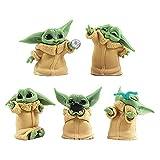 BESTZY Baby Yoda Toy 5 Figuras de Peluche para Bebé Baby Yoda Doll Figure Modelo de Acción para la...