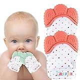 NEPAK 4 pack Baby dentición Manoplas-Protege Manos Bebés-Pain Relief Tranquilizadora de Edad- baby...