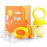 Alimentador antiahogo bebe, chupete fruta bebe de NatureBond (2 piezas), mordedores bebes | Además...