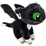 HTTYD Dragons, como Entrenar a tu dragón - Peluche Bebe Dragon Negro de Ojos Verdes 10'/26cm...